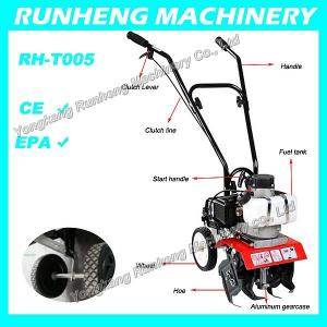 China 1.2HP mini Tiller gasoline tiller cultivator with CE approved(RH-T005) on sale