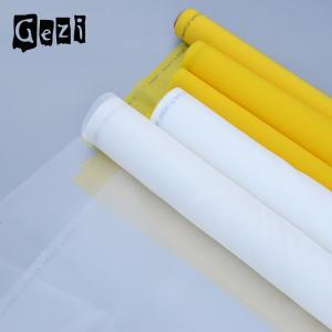 China White Yellow Polyester Screen Printing Mesh , Plain Weave Silk Screen Fabric Mesh on sale