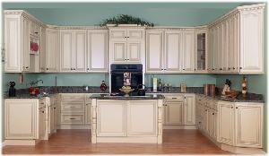China Glazed Maple Kitchen Cabinet on sale