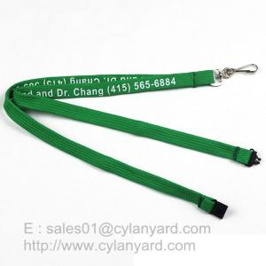 China Inexpensive Tube lanyard with Swivel J hook, printed polyester tube lanyards on sale
