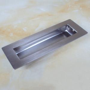 China Contemporary rectangular flush pull dresser drawer hidden handle on sale