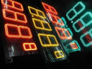 China Petrol Station Digital LED Gas Price Signs Wireless Control 7 Segment LED Display on sale
