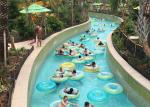 Outdoor Water Park Lazy River Swimming Pool With Wave Making Machine