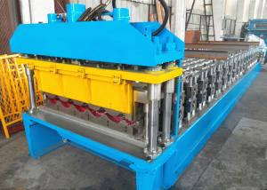 China Metal Roof Tile CNC Roll Forming Machine For 0.3 - 0.8mm Thickness Coils on sale