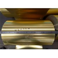 China Aluminum Epoxy Resin Hydrophobic foil A8011- O Gold color use air conditioning on sale