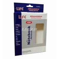 Power Switch Custom Paper Packaging With Window Wall Plug-in Adapter Box