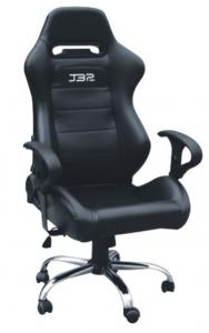 Quality Modern Style Racing Office Computer Chair Gaming chair with single adjustor PVC for sale