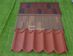 China colorful stone coated metal roofing tile/Stone coated iron sheet 1340mm*420*0.4mm stone chips coated roof tile on sale