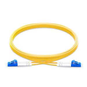 China Customized Length Duplex Fiber Optic Patch Cord Lc Lc Single Mode 2.0mm 3.0mm Dia. on sale