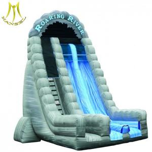China Hansel   inflatables children entertainments bounce house with small water slide for children on sale