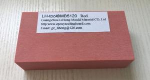 China 1.25 Medium Density Red  Epoxy Tooling Board For Jigs , Fixtures on sale