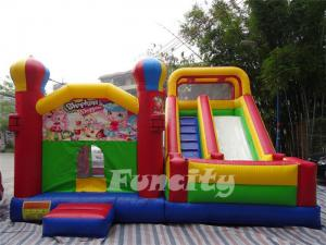 China Durable Large Inflatable Combo Bouncers / Bouncy Playhouse With Digital Printing on sale