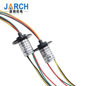 China OD 12.4mm Capsule Slip Ring Transmitter for CCTV / Robotics , Lower Contact Resistance 18 Circuit on sale