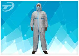 China Non Woven 4/5/6 Taped Disposable Protective Coverall By SMS Or Microporous Film Laminated Materials on sale