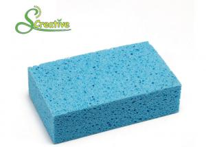 China Non Scratch Square Car Washing Cellulose Sponge With Strong Water Absorption on sale