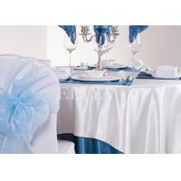 Round / Square Elegant Plain Design Hotel Table Cloth with 100% Polyester
