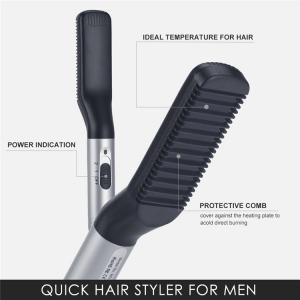 China Beard Straightener Comb for Men Quick Hair Straightening Electric Hair Styler for DIY Flexible Modeling and Natural Side on sale