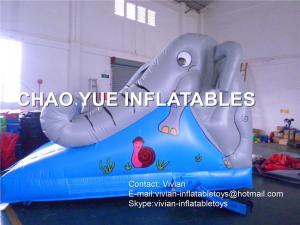 China Mini Elephant Inflatable Wet Slide , Commercial Toddler Slide For School on sale