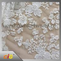 Cotton Nylon Spandex  Embroidered Lace Trimming Fabric For Garment / DIY Craft