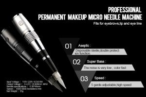 China Adjustable Permanent Makeup Machine Kit With 5 Grade Microneedle on sale