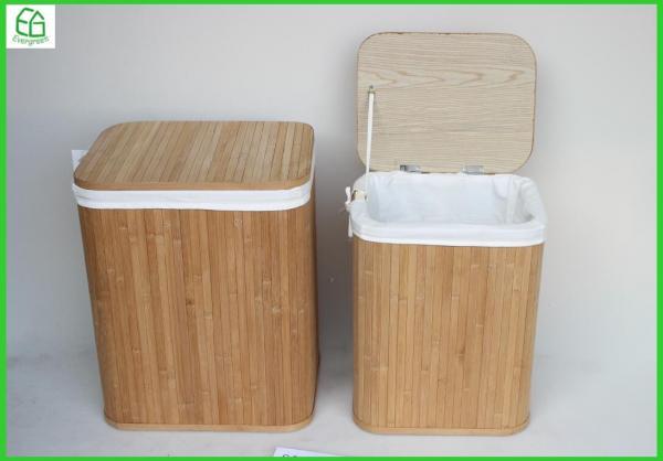 Pleasant Set Of 2 Popular Style Bamboo Storage Bench Storage Ottoman Inzonedesignstudio Interior Chair Design Inzonedesignstudiocom