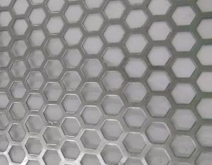 China Hexagonal Hole Perforated Metal Perforated Aluminum Sheet 2mm thick 3003 5005 5052 6061 3004 on sale