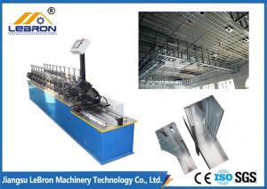 China Lightweight Stud And Track Roll Forming Machine , Blue Color Metal Stud Machine on sale
