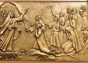 Quality Modern Religious Wall Art Decor Bronze Relief Sculpture Corrosion Stability for sale