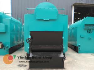 China Hot Water Biomass Fired Steam Boiler / Wood Pellet Traveling Grate Stoker Boiler on sale