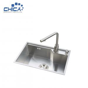 China Handmade House Single Bowl Kitchen Sinks With Faucet Stainless Steel Kitchen Sinks With Soap Dispenser on sale