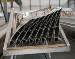 Powder Painted / Anodized Industrial Fan Blade Profile / Industrial Cooling Blade