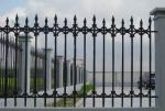 Antique Cast Iron Fence Panels / Pedestrian Safety Barrier Fence For Villa Home