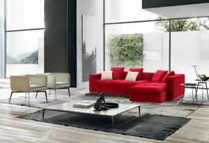 Quality Elegant Modular Corner Sofa Furniture , Contemporary Fabric Sofa Set for sale