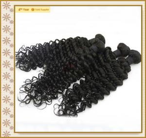 China Hot selling remy deep wave human hair extension with wholesale price on sale
