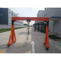 A Frame Type Crane With Electric Chain Hoist And Electric Trolley For Work Shop