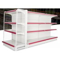 Iron Steel 4 Layers Supermarket Display Racks With Double Sided / Single Sided