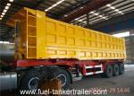 China Hydraulic Self Discharge Side Dump Semi Trailer Truck for loading sand coal stone wholesale