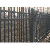 China Tubular steel ornamental garden Hercules Fence 1200mm height x 2450mm width Stain Interpon Powder on sale