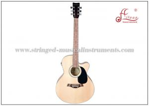China Dreadnought Cutaway Stringed Musical Instruments / Music Electric Guitar 41 with Spruce Plywood Top OEM on sale