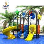 2.5 Mm Thickness Commercial Water Slides For Water Park Powder Coated