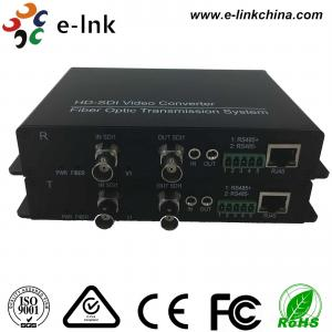 China Ethernet  over Fiber Converter SD/HD/3G-SDI + RS485/RS422/RS232 Data + 10/100M on sale