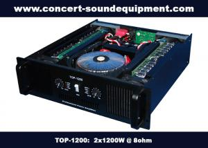 China Concert Sound Equipment / 2x1200W Class H High Power Analogue Amplifier For Subwoofer on sale