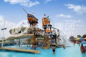 China Funny Aqua Playground Fun Water Slides Combination With Biggest Water Slide For Family on sale