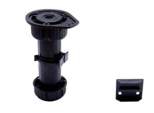 Durable Plastic Adjustable Furniture Legs Black Color For Kitchen