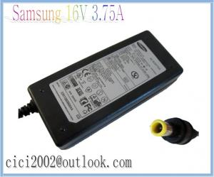 China Genuine New Laptop Charger for Samsung Notebook 16V 3.75A Replacement AC Adapter on sale