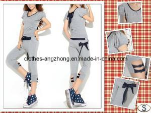 China Kearon Summer Short Sleeve T-Shirt+Pants 2PCS Sports Wear Fashion Women Sport Suit Lady Leisure Clothing Set on sale