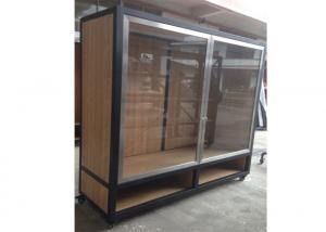 Quality Clear Tempered Glass Door Wall Mounted Display Cabinets Commercial Retail for sale