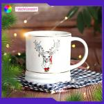 Christmas Gift Ceramic Coffee Mugs Embossed Tableware Sets Personalised Lead Free