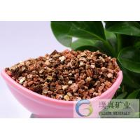 China Gardening grade golden 2-4mm Vermiculite expanded/expanded Vermiculite for cast-in-situ concrete on sale