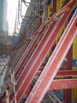 encofrado del muro de cemento del soporte del Solo-lado para el muro de contención concreting